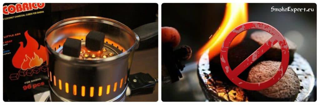 как разжигать угли
