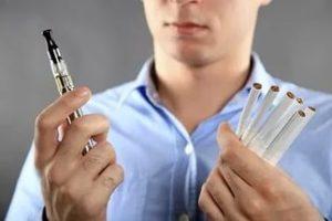 электронная сигарета без никотина или обычная сигарета