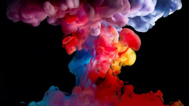 Цветной дым из вейпа