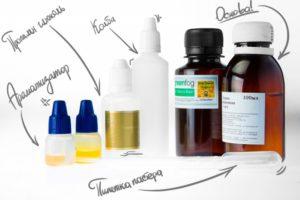 компоненты жидкости для электронных сигарет