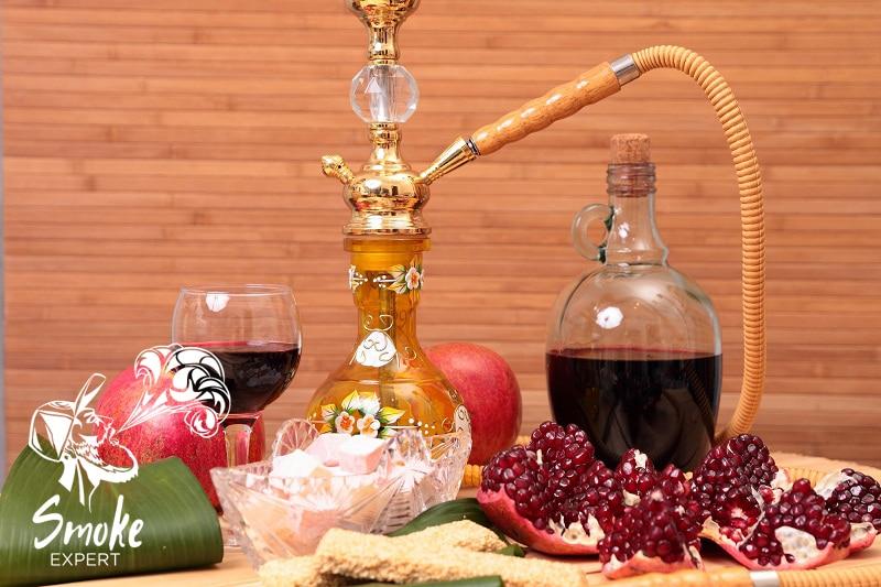 Приготовление кальяна на вине